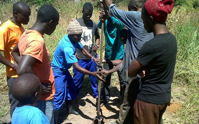 Training to Use Portable Well-Drilling Kit